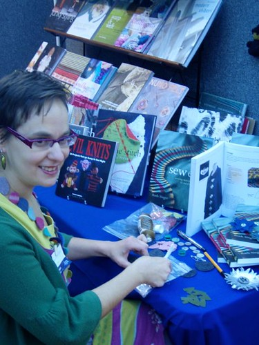 Book signing and brooch-making with Bloomsbury Books