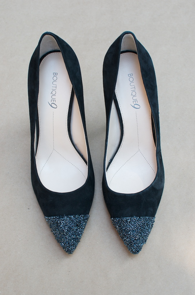 diy nine west caviar tipped heels 9