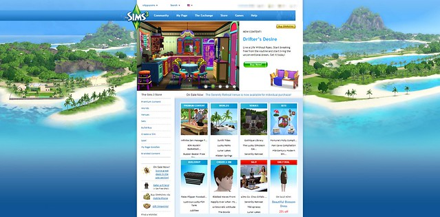 sims 3 website update