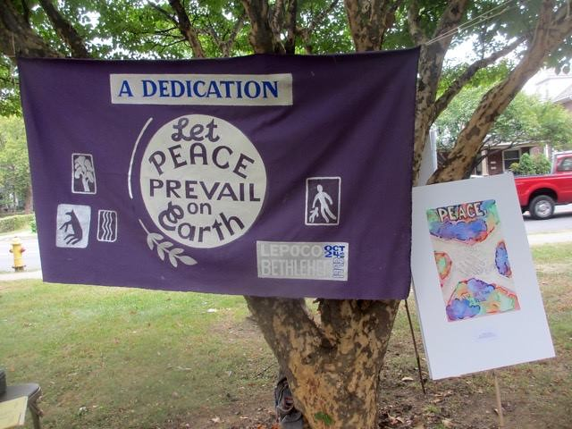 Bethlehem, PA - Peace Pole Planting during CNV Week of Actions 2016 (17)