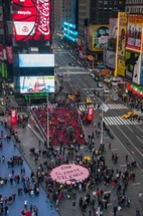 Times Square Connect the Dots action before Hurricane Sandy