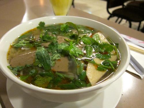 Bun Bo Hue (Spicy Soy Beef Soup) ($6.75)