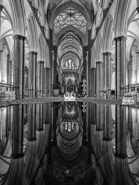 Arches in Reflection - Salisbury Cathedral