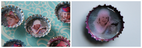 Making Picture Bottle Cap Magnets