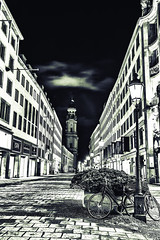 Munich Germany at night light
