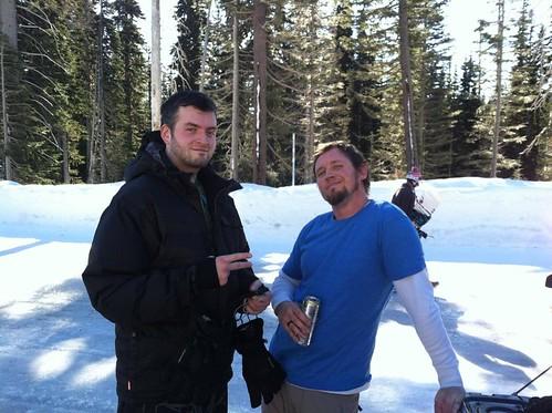 In between runs at Mt. Hood