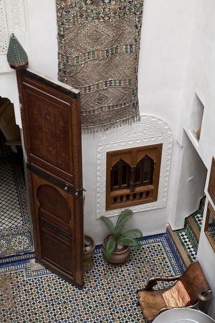 riad, morocco, tile, fes