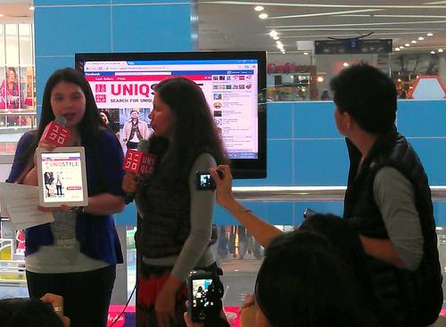 at the Uniqlo UniqStyle event