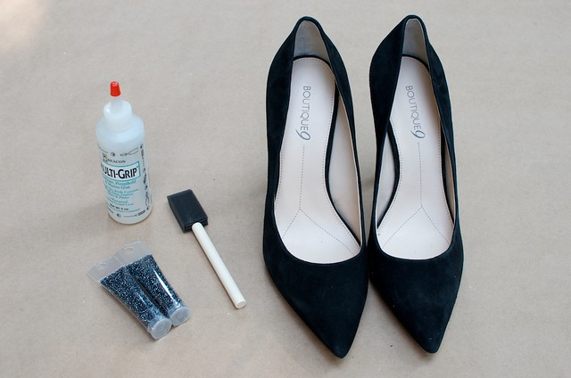 diy nine west caviar tipped heels 1