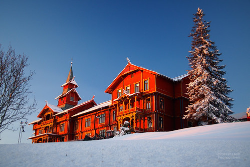 The Red Hotel in Winter by RobertCross1