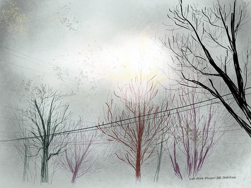 """Valangell's Winter"" (#25: Project 365 Sketches)fl"
