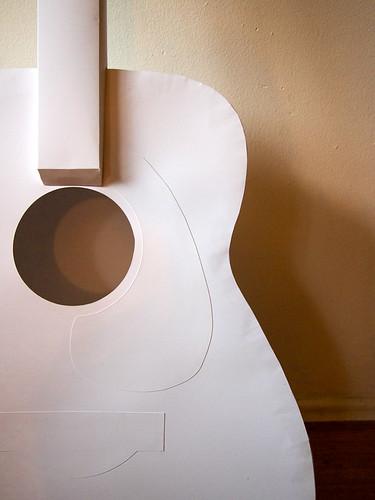 Paper Instruments - acoustic guitar detail