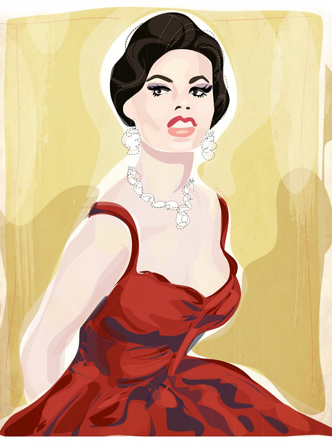Sophia Loren-retro-Hollywood-glamour