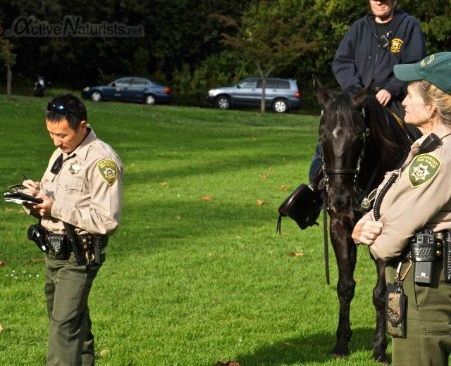 naturist 0011 police and rangers, San Francisco CA, USA