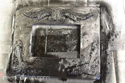 Antiqued Picture Frame Tutorial Step 5