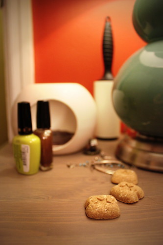 20121104. Still life with pets. My bedside table.