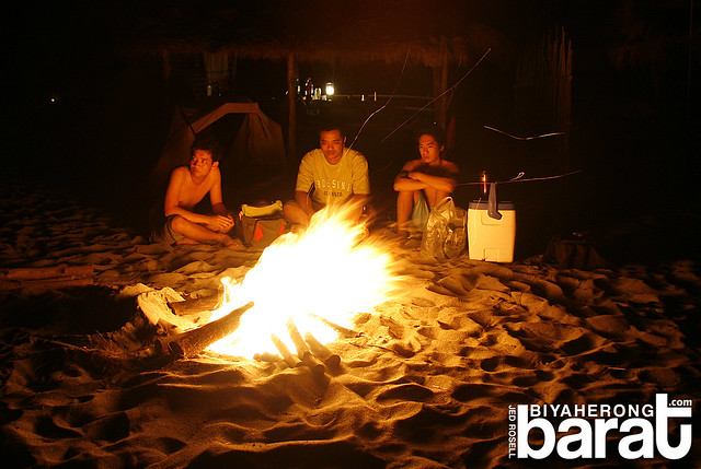 Bonfire by the beach in san antonio zambales