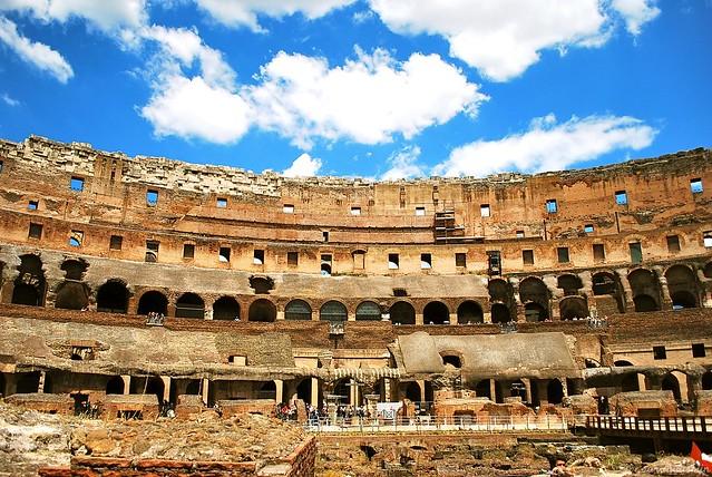 colosseum, rome, italy, coliseo, Flavian Amphitheatre, roman,