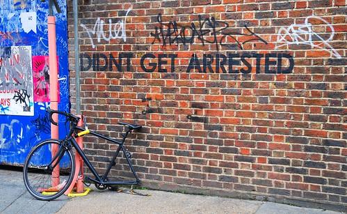 Spot the irony !, Shoreditch, East London, England.