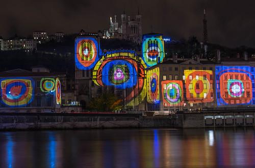 Fête des Lumières 2012 - Quai de Saône by Jeff Bussiere