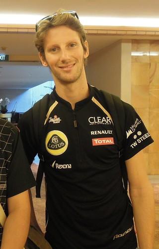 Avec Romain Grosjean