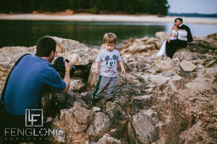 Behind the Scenes | Sophear & Jake's Bridal Trash the Dress | Lake Lanier | Atlanta Asian Cambodian Wedding Photographer