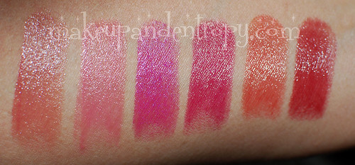 Colorburst arm swatches
