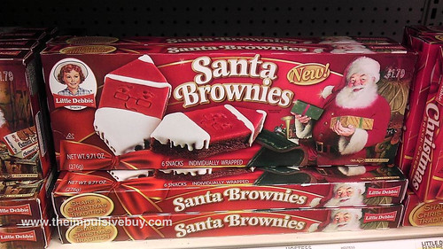 Little Debbiee Santa Brownies
