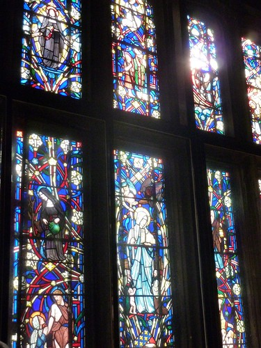Stained Glass Window inside the St. Genevieve chapel on the second floor