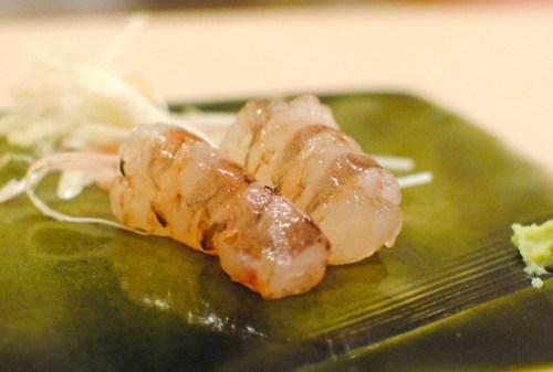 kurumaebi sashimi