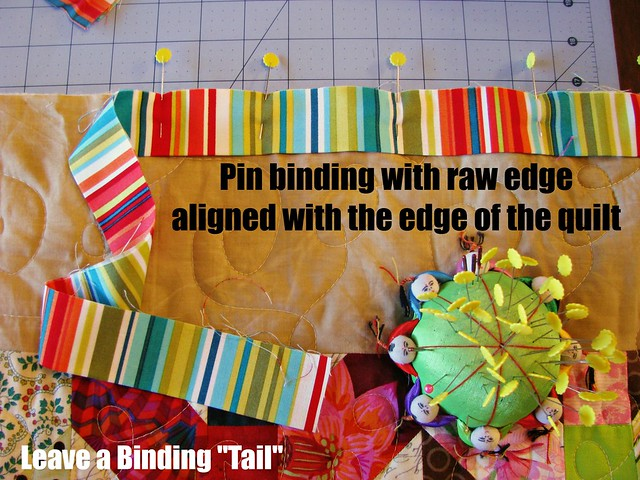 How to Bind a Quilt, Sewing on Binding1