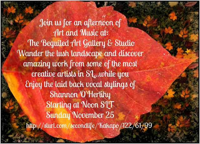 Art & Music at The Beguiled tomorrow Noon SLT: