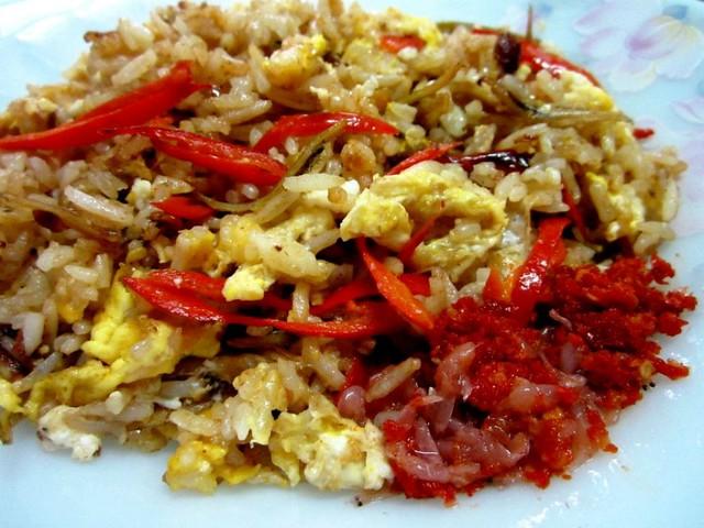 Cincaluk fried rice