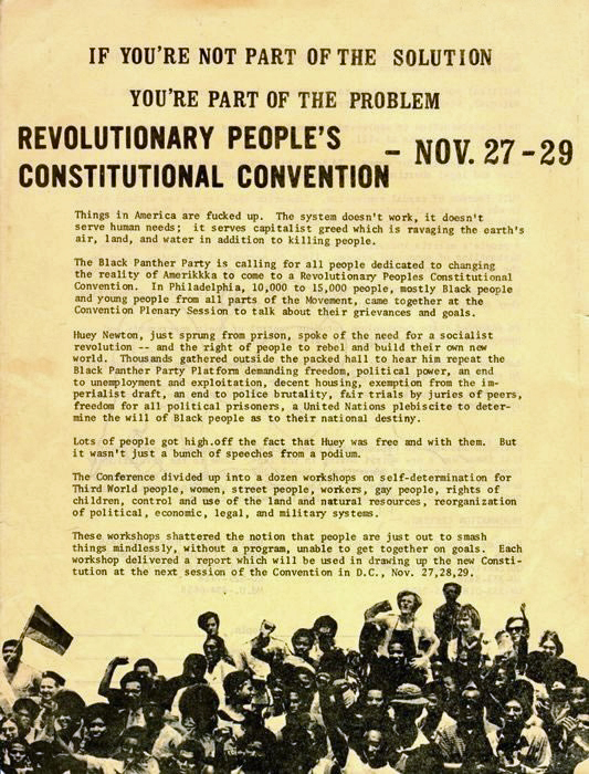 1970 Black Panther DC Convention Call