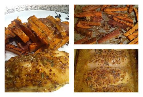 sweet potato chicken Collage