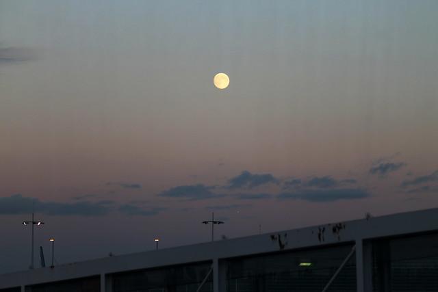 Full moon over CDG