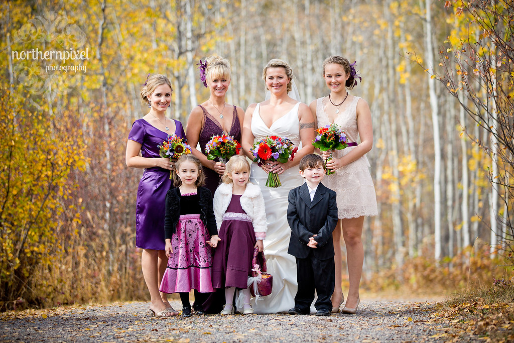 Bridal Party - Logpile Lodge in Smithers BC