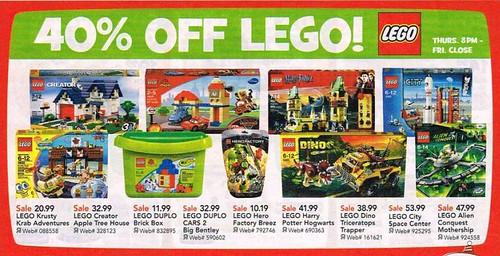 TRU LEGO Black Friday