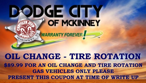 $89.99 Oil Change - Tire Rotation by Dodge City McKinney Texas