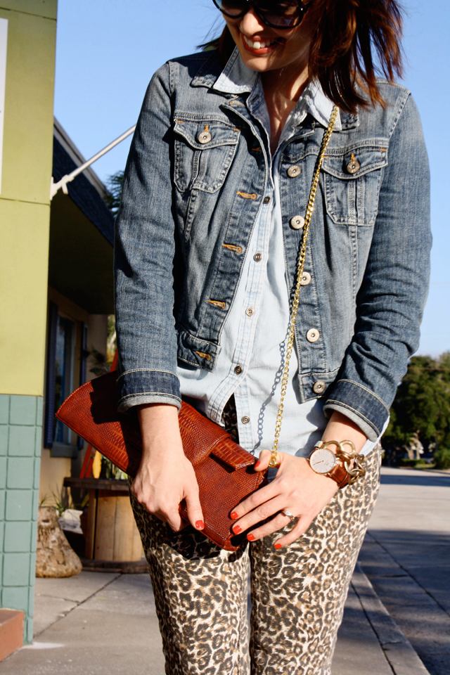 denim jacket with denim shirt