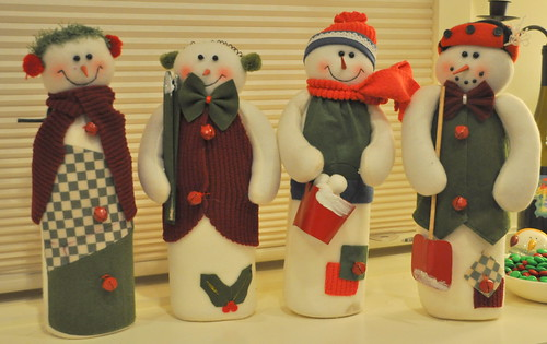 set of four snowmen
