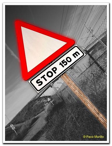 stop 150 m