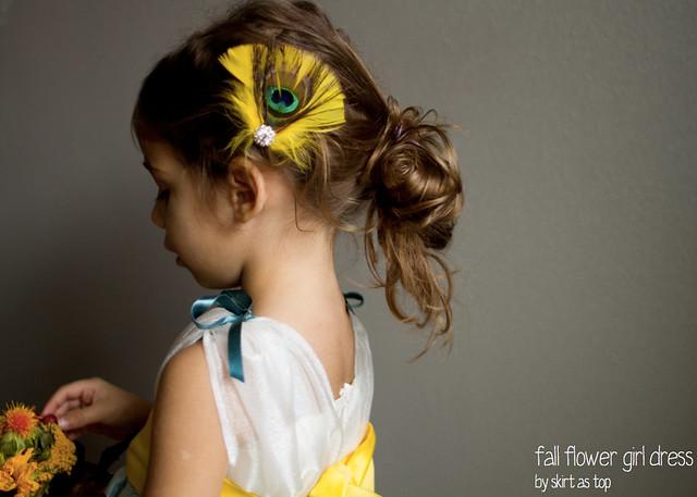 fall flower girl dress