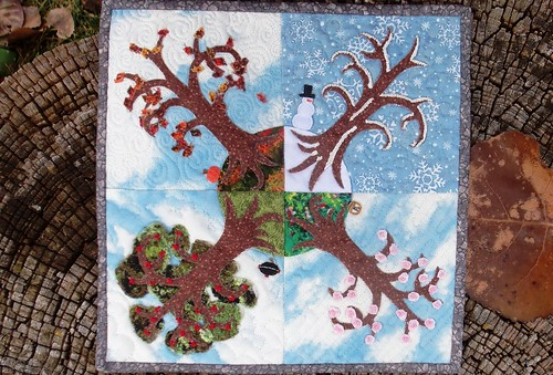 """Seasons"" Mini QT Swap quilt for  Sandy! by ruthiequilts"
