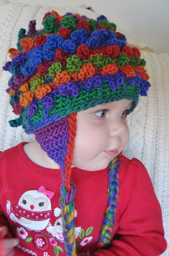 picture of lil loopy beanie from side