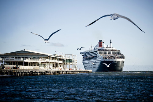 The day Queen Mary 2 docked in Melbourne