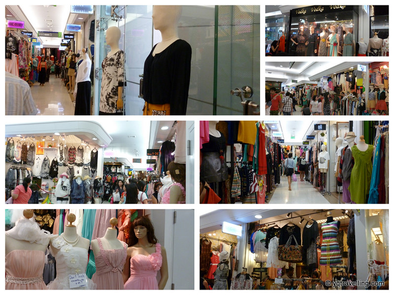 Clothes stall in Platinum Mall