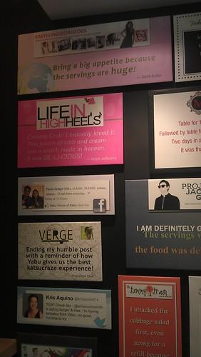 spotted my testimonial at the Yabu House of Katsu SM MOA branch