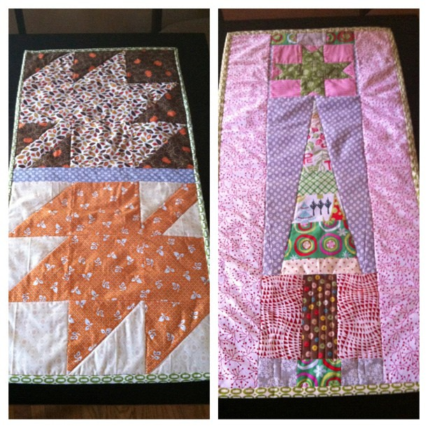 the ultimate holiday reversible table runner. I foresee me making a lot more of these.