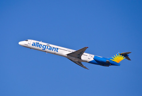 Allegiant Air Airplane in the air